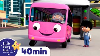 Wheels on The Bus   Bus Song for Kids - Bus Compilation +More Nursery Rhymes   Little Baby Bum