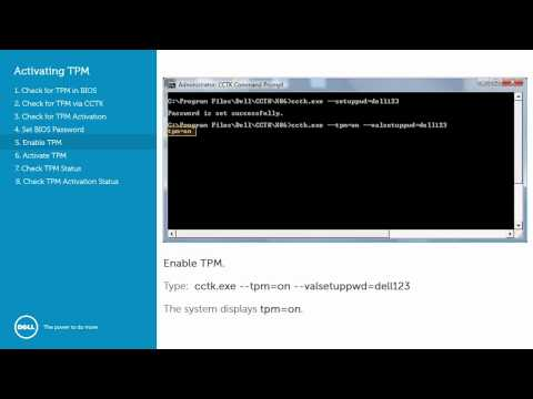 Dell Client Configuration Toolkit (CCTK) - Activating the TPM