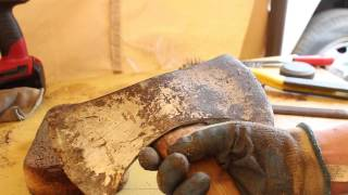 Collins Double Bit Axe Restoration - Country Living