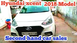 Hyundai Xcent 2018 model used car sales Thirunelveli