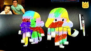 How to make a Rainbow Jellyfish. handcraft