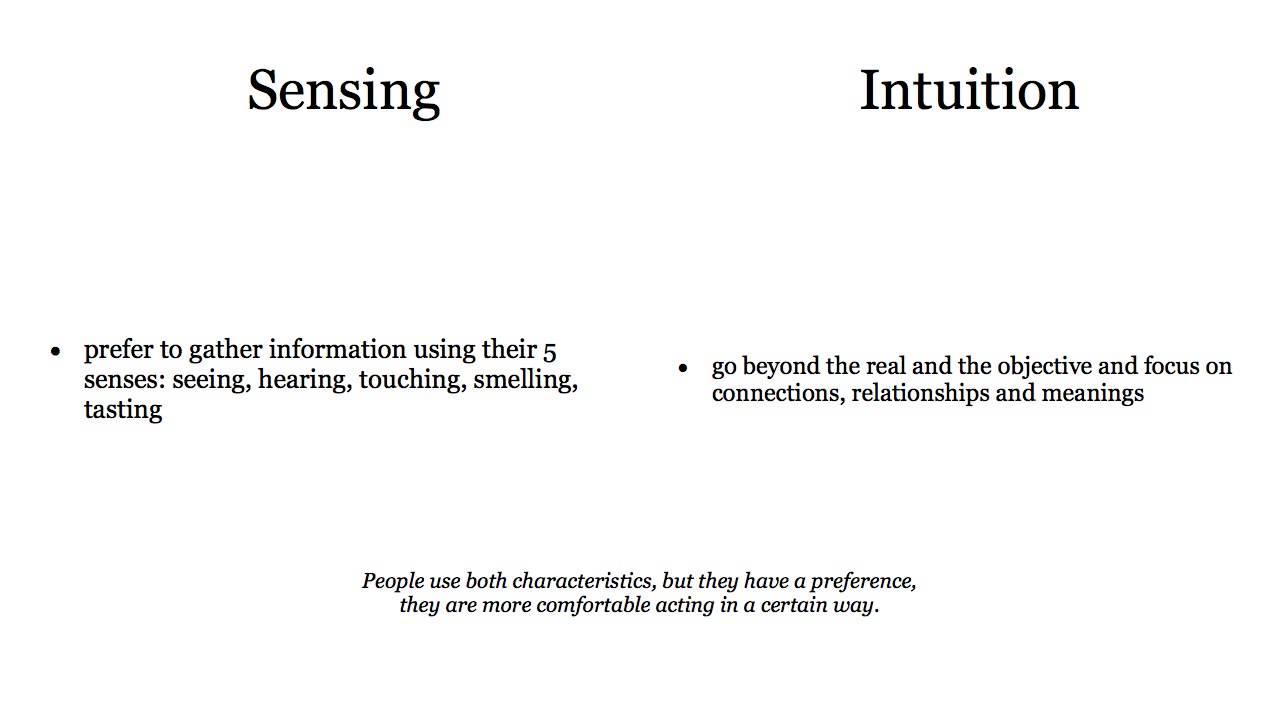 Intuition vs sensing?