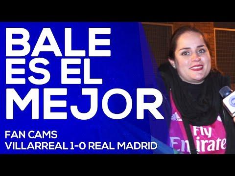 Villarreal 1-0 Real Madrid   Bale el mejor, Cristiano no tanto  FAN CAMS