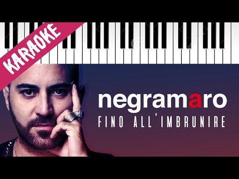 Negramaro | Fino All'Imbrunire // Piano Karaoke con Testo