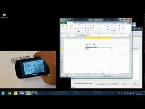 Mit Android Smartphone Barcodes in Excel einscannen