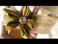 how to make ribbon flower headband in desi indian style  super easy method  quick and easy  