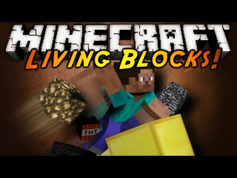 Minecraft Mod Showcase : LIVING BLOCKS!