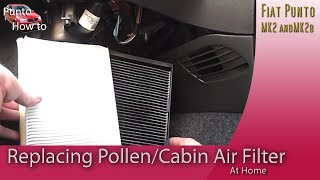 Fiat Punto Cabin pollen Air Filter replacement