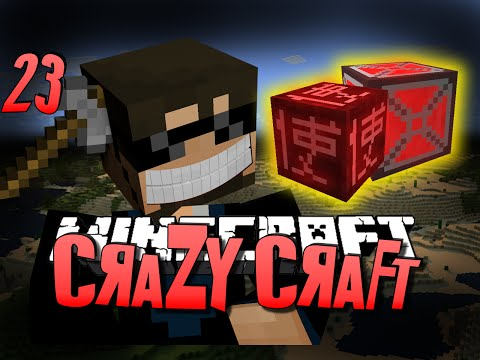 Minecraft CRAZY CRAFT 23 - BLOOD MAGIC ARMOR OP (Minecraft Mod Survival)