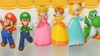 Super Mario Party - All Characters Winning Animations