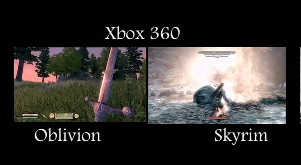 Oblivion Vs Skyrim Xbox 360 YouTube