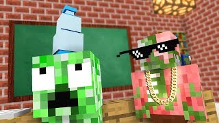 Monster School : WATER BOTTLE FLIP Challenge - Minecraft Animation