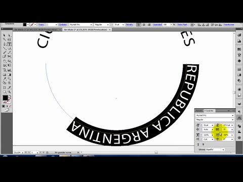 Illustrator Texto en un Trazado Circular