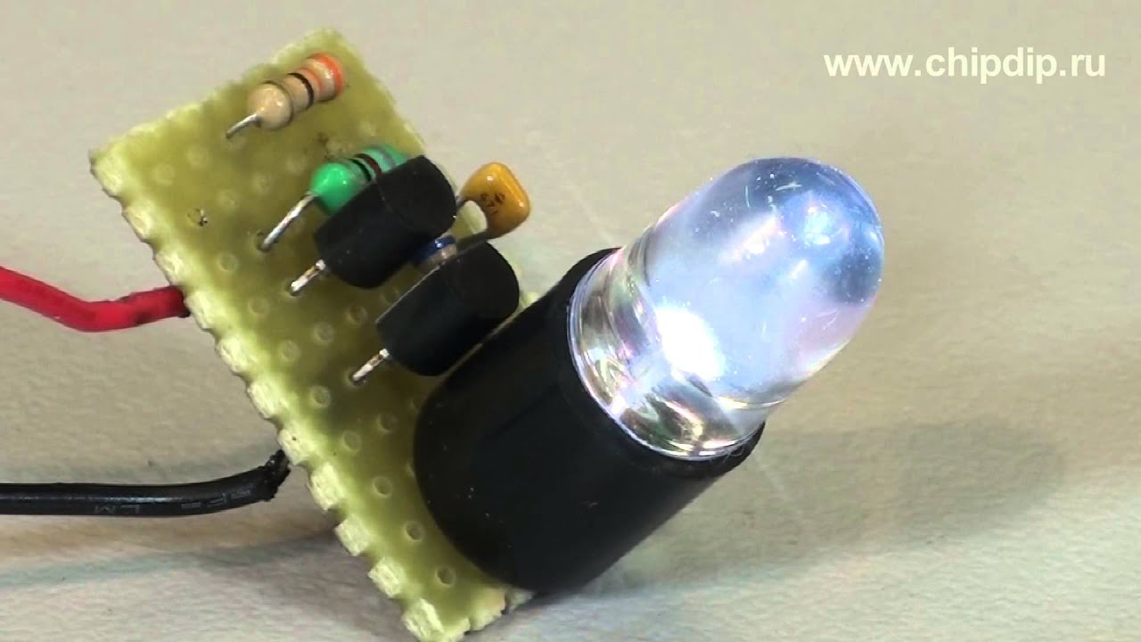 Схема уличного фонарика на солнечной батарее