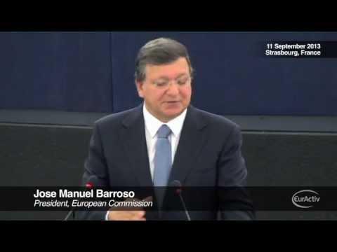 Barroso calls for political union, criticises eurosceptics