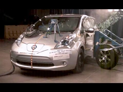 2013 Nissan Leaf | Side Crash Test by NHTSA | CrashNet1