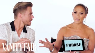 Jennifer Lopez Teaches You Dance Slang with Derek Hough and Ne-Yo | Vanity Fair