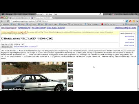 craigslist san diego used cars for sale in january 2013 smashpipe. Black Bedroom Furniture Sets. Home Design Ideas
