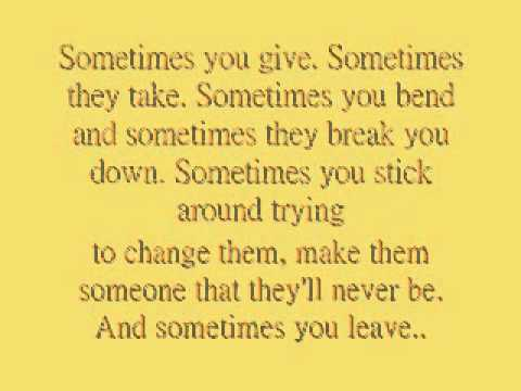 Carrie Underwood - Sometimes You Leave