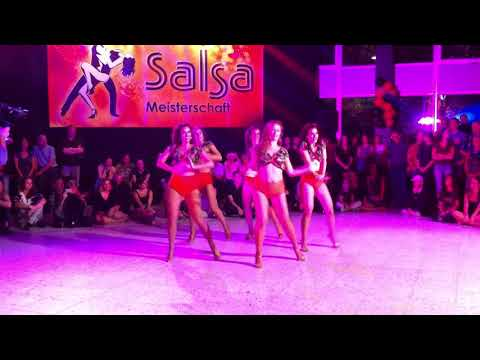 Deutsche Salsa-Meisterschaft 2018 – Ladies-Formation: AYA Latin Dance Academy Freiburg