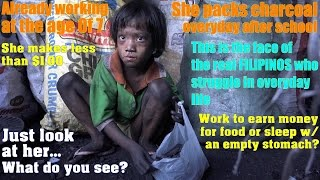 Travel to Manila Philippines and Meet this Poor Little Girl and Her Family. Poverty in the Slum