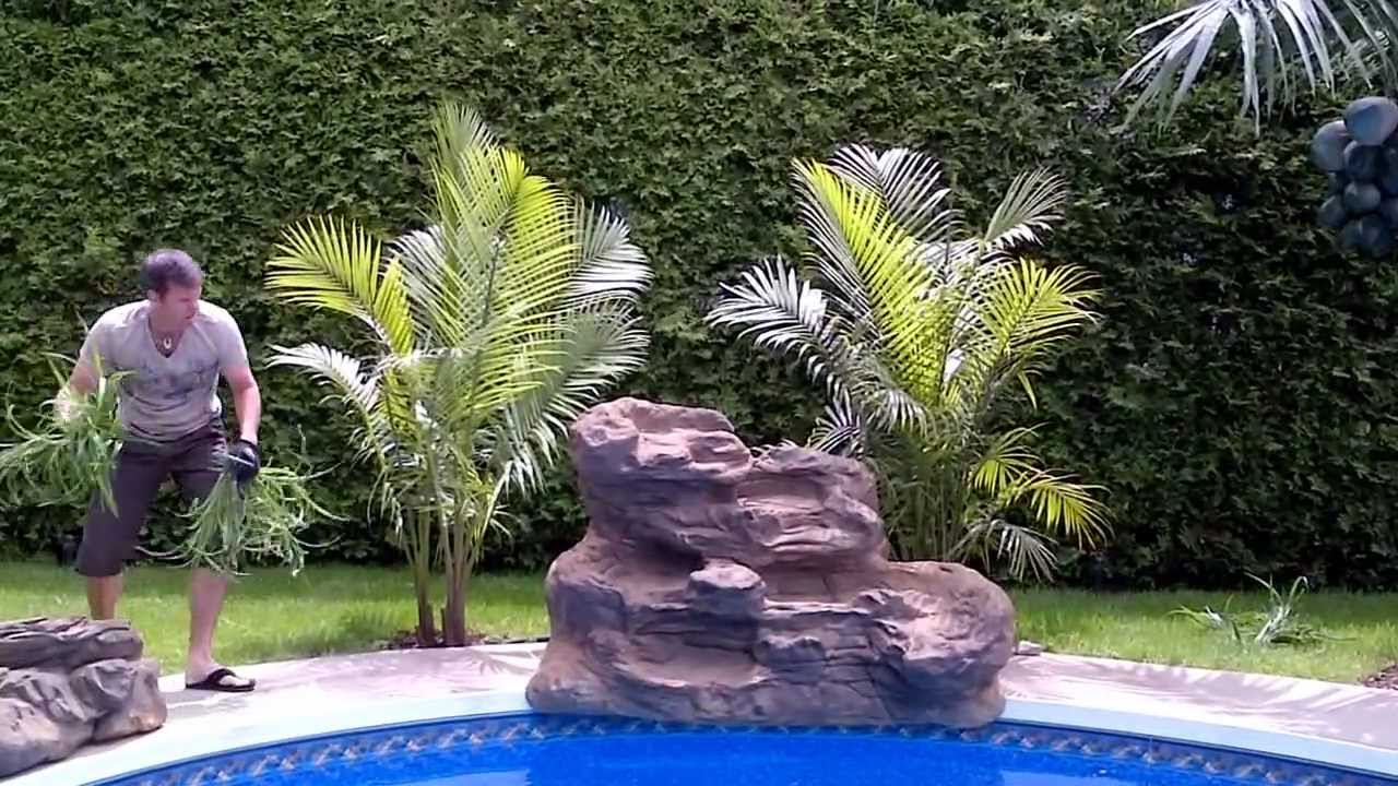 serenity pool waterfall installation youtube. Black Bedroom Furniture Sets. Home Design Ideas