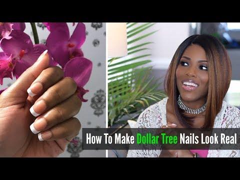 💖 Glam Style 💖 Dollar Tree Nails | How To Make Fake Nails Look Real