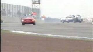 Mark Burton crashes Ford Fiesta at Silverstone 1999