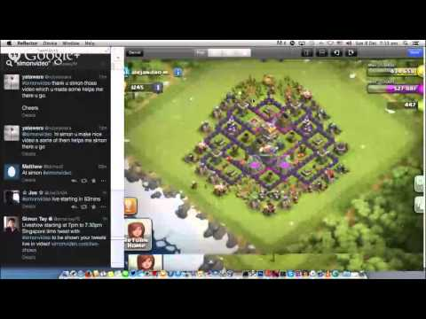 Sunday live show 7pm to 7.30pm Singapore time 8 Dec 2013 Clash of Clans