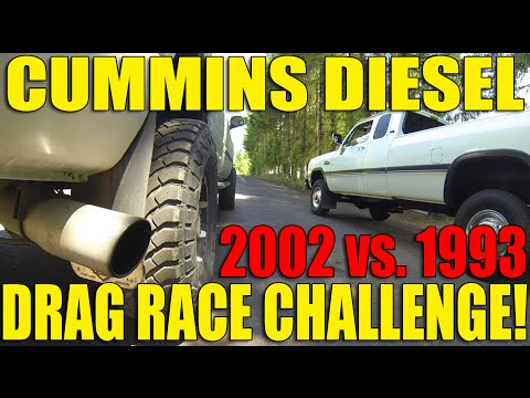 Dodge 5.9l Diesel RACE! 12 Valve vs. 24 Valve Backroad SHOWDOWN!!