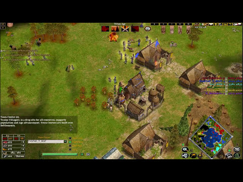 Age of mythology the TITANS 3V3 online match (Water map)