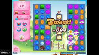 Candy Crush Level 1322 Audio Talkthrough, 2 Stars 0 Boosters