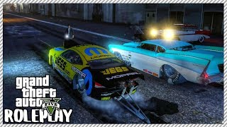 GTA 5 ROLEPLAY - Lost $50,000 Drag Race Bet & Brutal Dragster Crash | Ep. 360 Civ