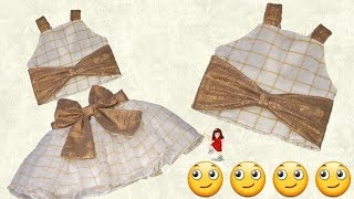 Convert old dupatta in to Designer Baby Top part - 2 // by simple cutting