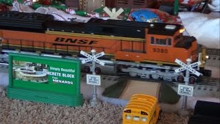 My O scale trains running on Christmas 2014