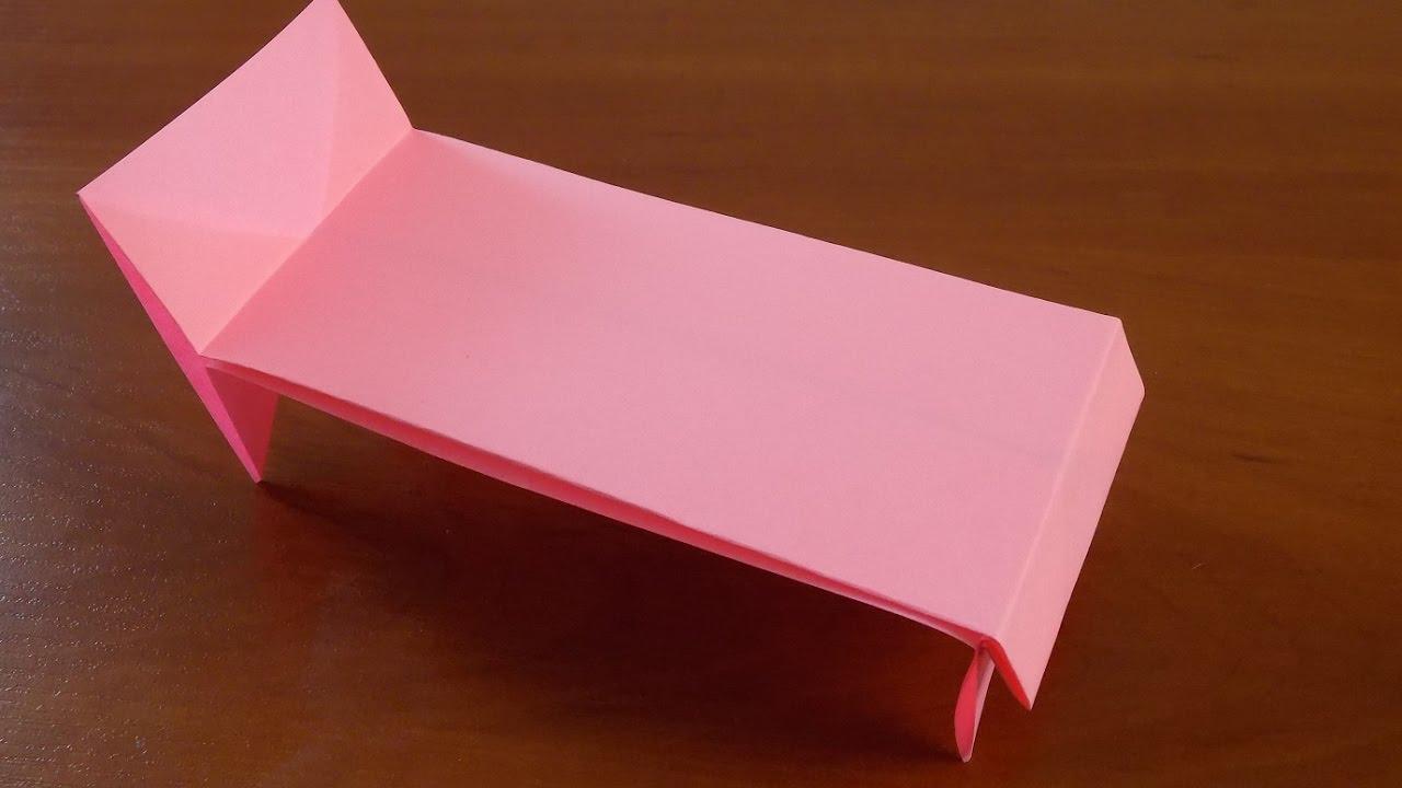 Как сделать кровать из бумаги легко