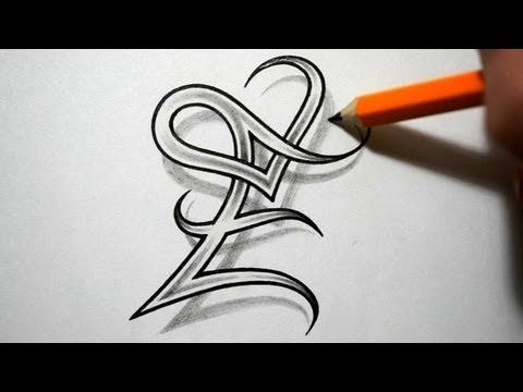 style letter...U Letter Design Tattoo