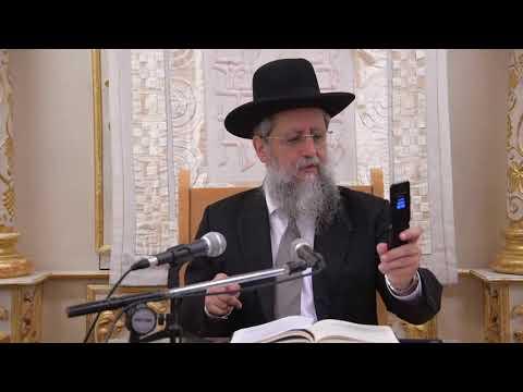 הרב דוד יוסף בעל הלכה ברורה שיעור הלכות שופר בבית מדרש יחוה דעת