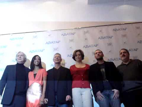 Avatar - photocall in Moscow. James Cameron, Sam Worthington, Sigourney Weaver, Zoe Saldana