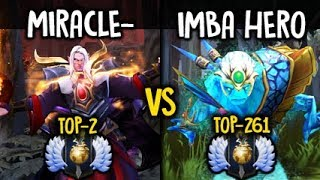 Miracle- God Invoker vs 7.07 Imba Morphling Hard Game Dota 2