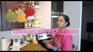 Cooking Sudani Food - Molokheeya (Jews Mellow)   Leina Elfaki