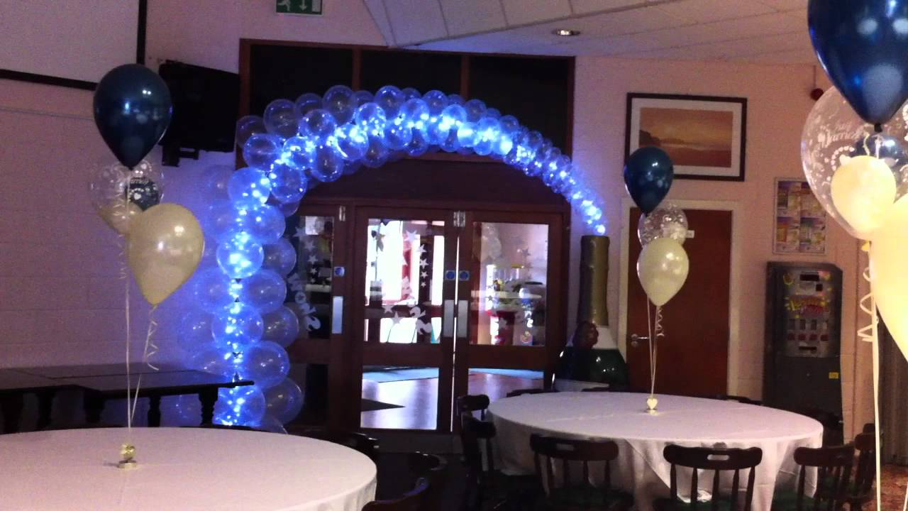 Champagne bottle entrance arch youtube for Champagne balloon wall