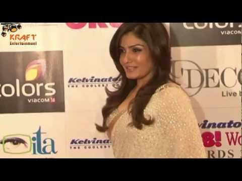 Raveena Tandon In Beautiful Shiny Saree video