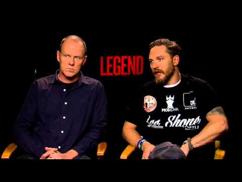 Legend: Tom Hardy & Brian Helgeland Official Movie Interview