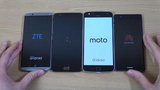 ZTE Axon 7 vs OnePlus 3T vs Moto Z Play vs Huawei P9 - Speed Test!