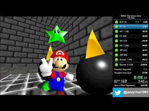 Super Mario 64 The Green Stars - 130 Star Speedrun in 2:27:02