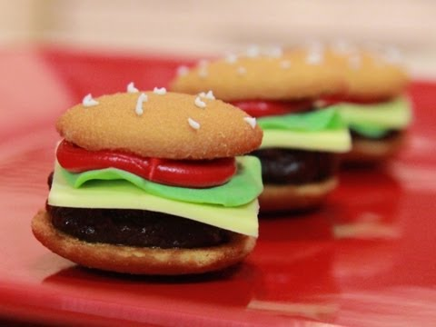 How to make Mini Hamburger Cookies - YouTube