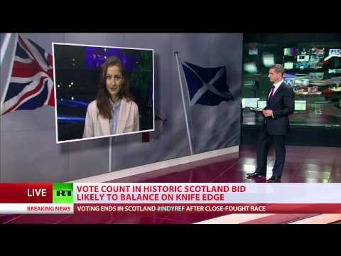 Too close to call: Scotland referendum polls close - world waits