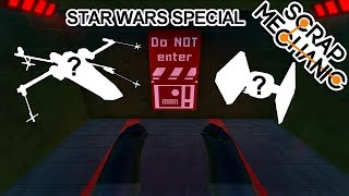STAR WARS Inspired Flying Creations ( Scrap Mechanic Gameplay )