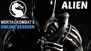 Mortal Kombat X - Alien Online Multiplayer Gameplay Session [1080p 60fps]